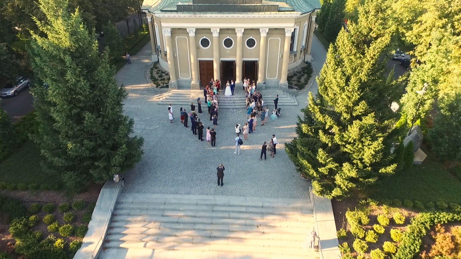 Wideo ślubne z drona